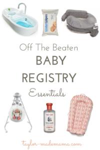 Off The Beaten Baby Registry Essentials